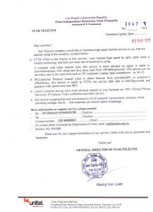 Case – Unitel Laos leaflet