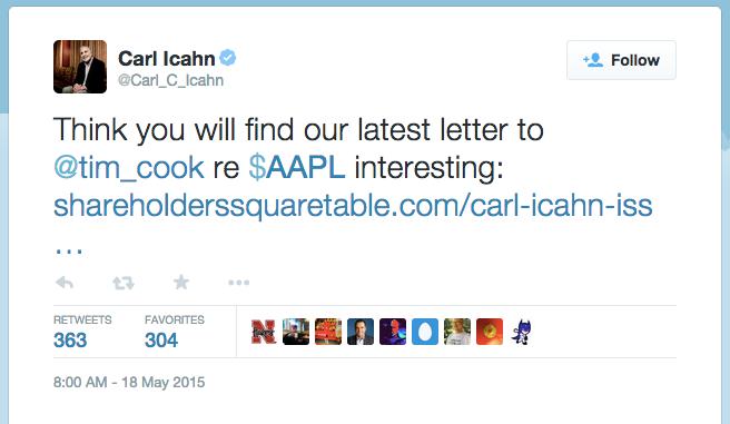 Icahn's open letter